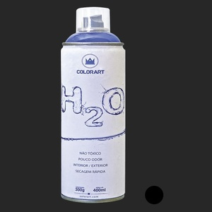 TINTA SPRAY COLORART H2O PRETO BRILHANTE