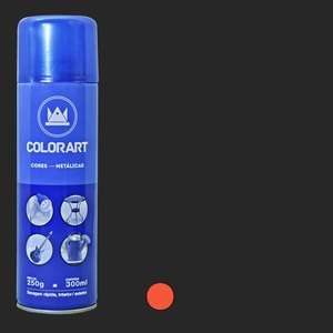 TINTA SPRAY COLORART METALICO LARANJA
