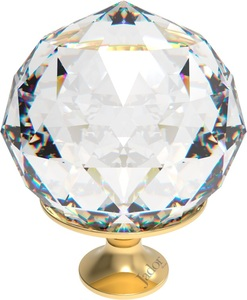 PUXADOR CRISTAL JADOR BALL GOLD 50MM JAD1213