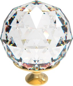PUXADOR CRISTAL JADOR BALL GOLD 60MM JAD1214